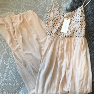 Lush Sequin Strappy Dress NWT